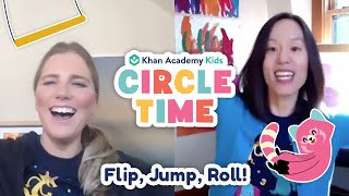 Flip, Jump, Roll! | Book Reading and Gymnastics for Kids | Circle Time with Khan Academy Kids