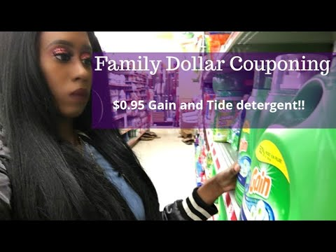 Family Dollar $5 Off $25.  All Digital Couponing.  $0.95 Gain And Tide Detergent!!  Grocery Haul
