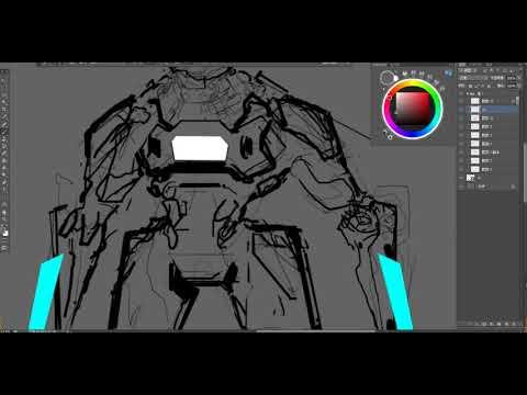 """ShotaCG-""""YU-YIMING""""Science fiction mechanical painting process"""