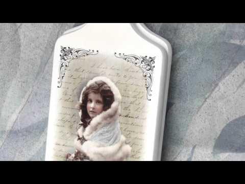 deska do krojenia decoupage vintage , YouTube