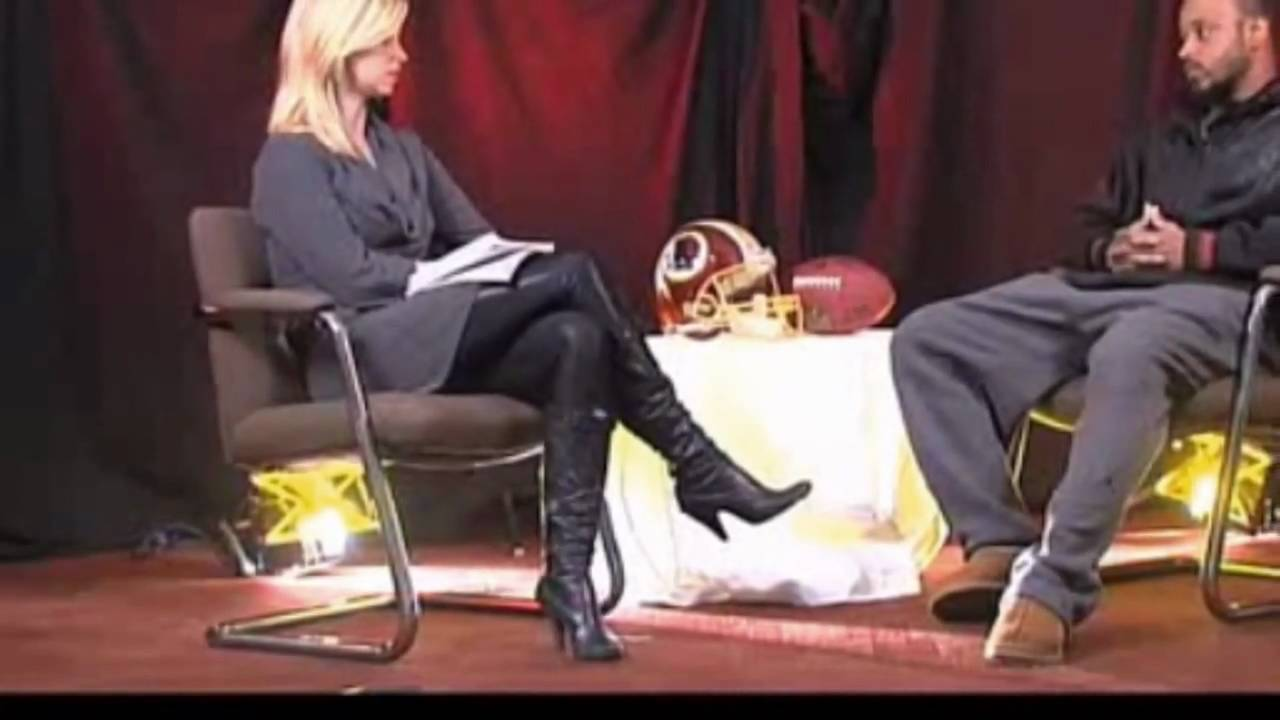 2a68b1526a371 Kelli Johnson In Leather Leggings & High Heel Boots - YouTube
