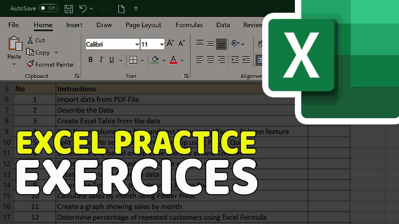 Excel Exercises for Practice