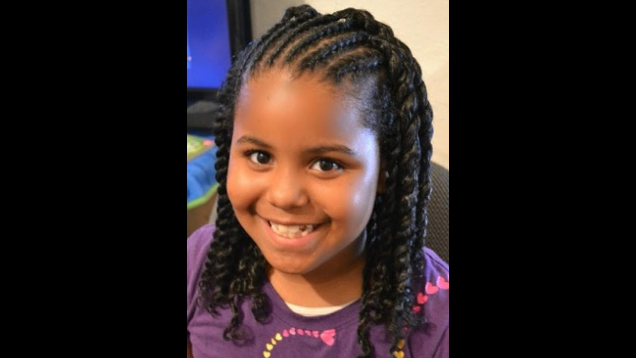Kids Hairstyles Braids For Girls U0026 Kids | Pictures Of Cute Black Kids Hair  Styles  Girls Will Love   YouTube