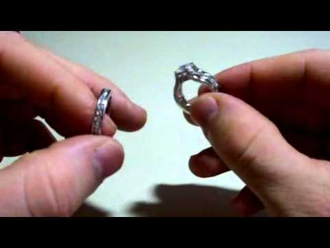 Rongxing Jewelry Women's Silver Crystal White Gold Filled Engagement Setting Ring Size