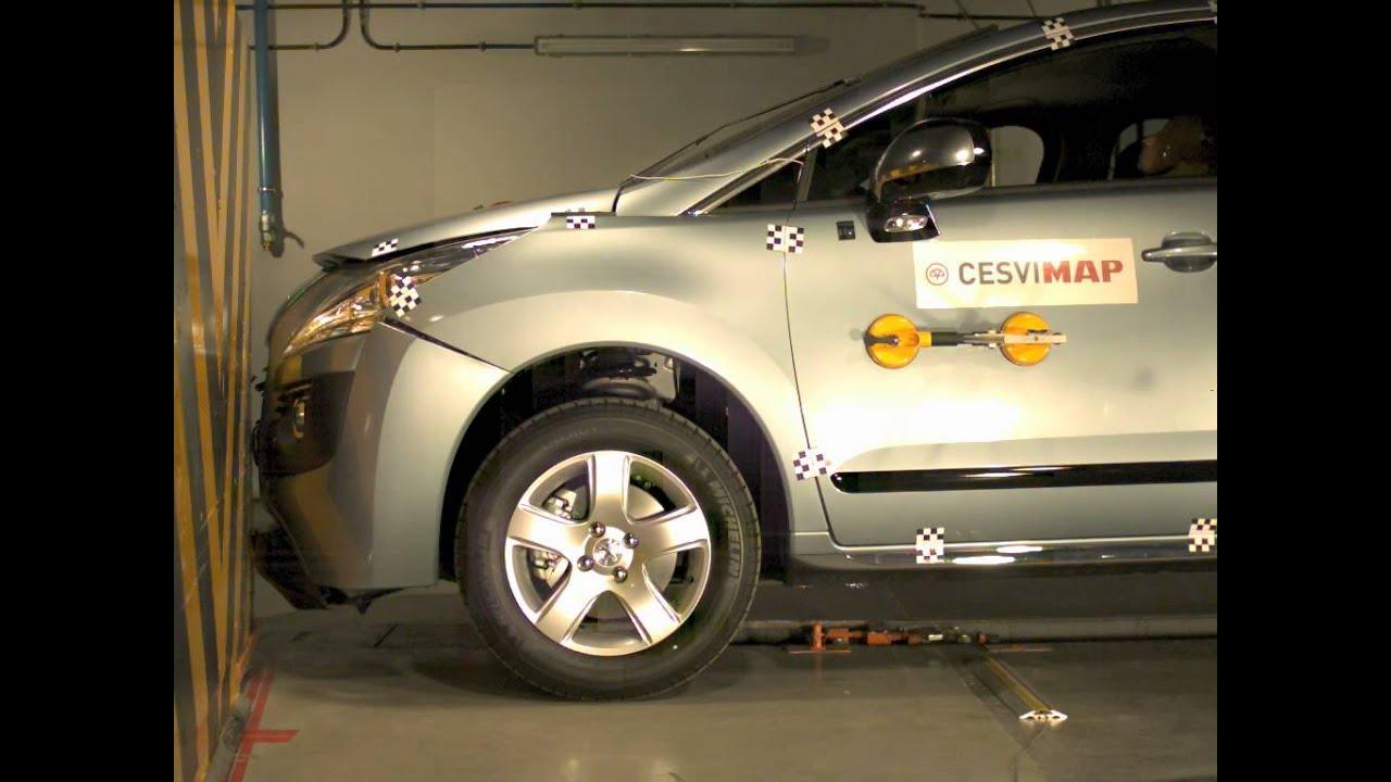 crash test delantero peugeot 3008 hybrid youtube. Black Bedroom Furniture Sets. Home Design Ideas