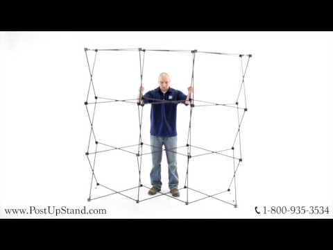 How To Assemble A Straight Trade Show Booth Display
