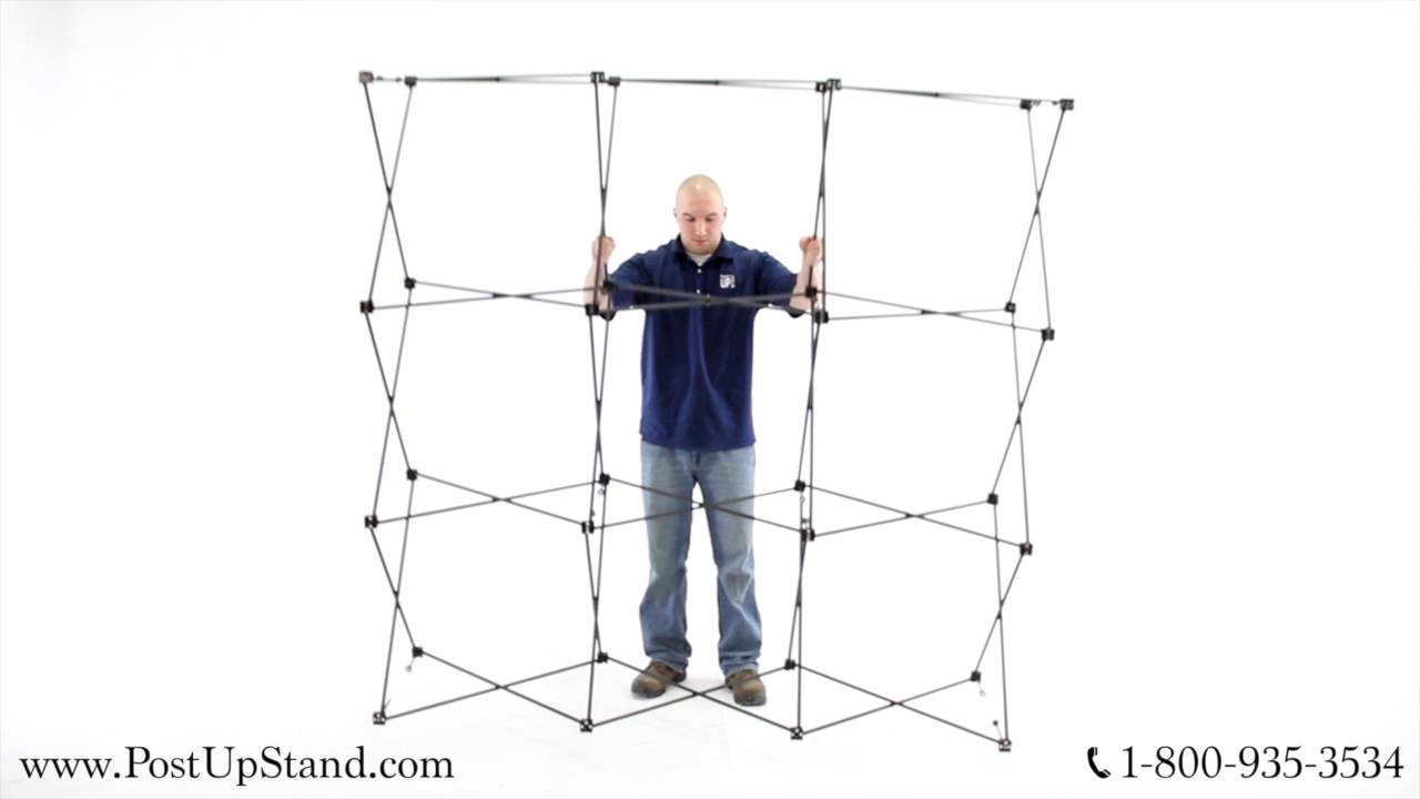 How To Assemble A Straight Trade Show Booth Display Youtube