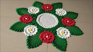 Innovative and Creative Rangoli Designs|Easy Rangoli by Shital Mahajan