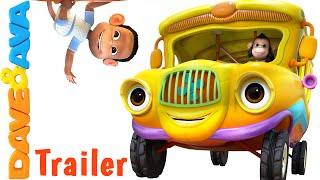 Wheels on the Bus  -  Trailer | Nursery Rhymes and Baby Songs from Dave and Ava