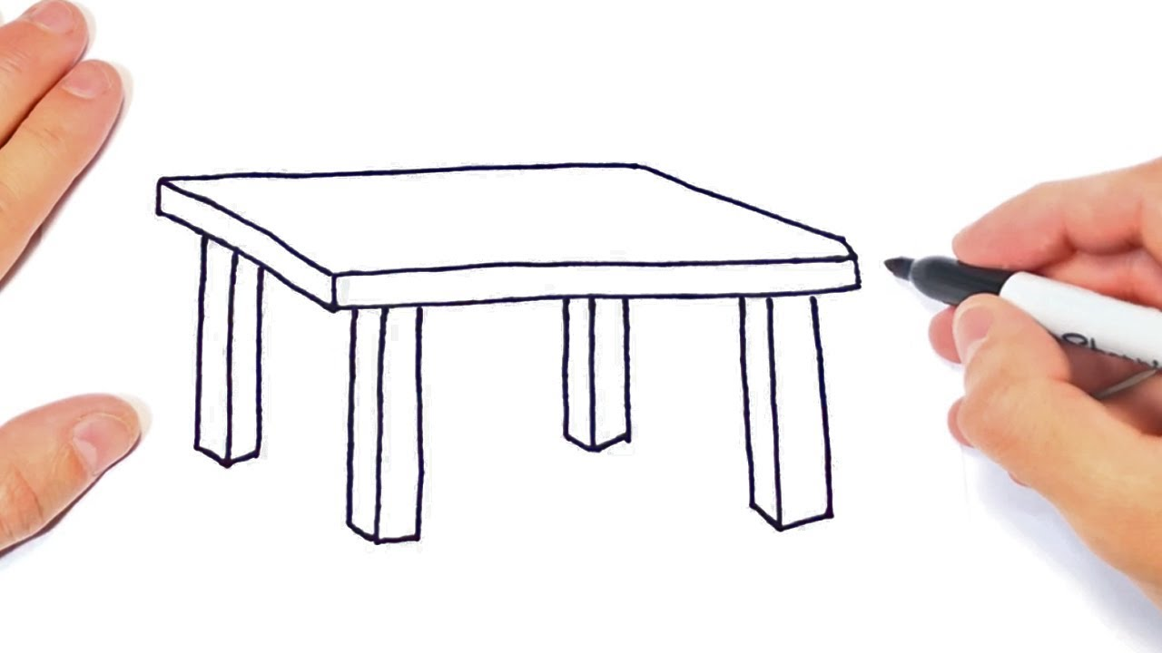 How to draw a Table Step by Step   Easy drawings - YouTube