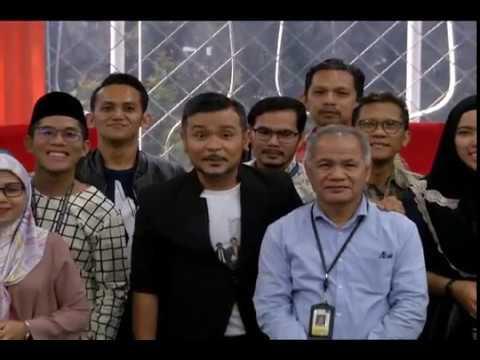 SKETSA BALIK RAYA BILIK BERITA TV RADIO TELEVISION MALAYSIA (RTM) ANGKASAPURI, KUALA LUMPUR