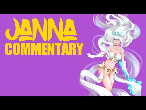 Janna Full Gameplay Commentary - Diamond 1 Support Main - League of Legends Janna Support Commentary