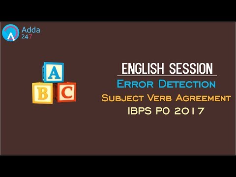 Error Detection (Subject Verb Agreement) | English |Online Coaching for SBI IBPS Bank PO