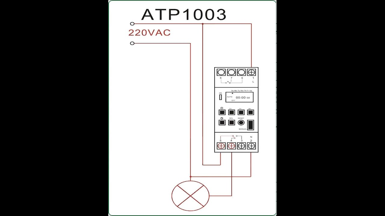 Digital Timer Wiring Diagram - wiring diagrams schematics