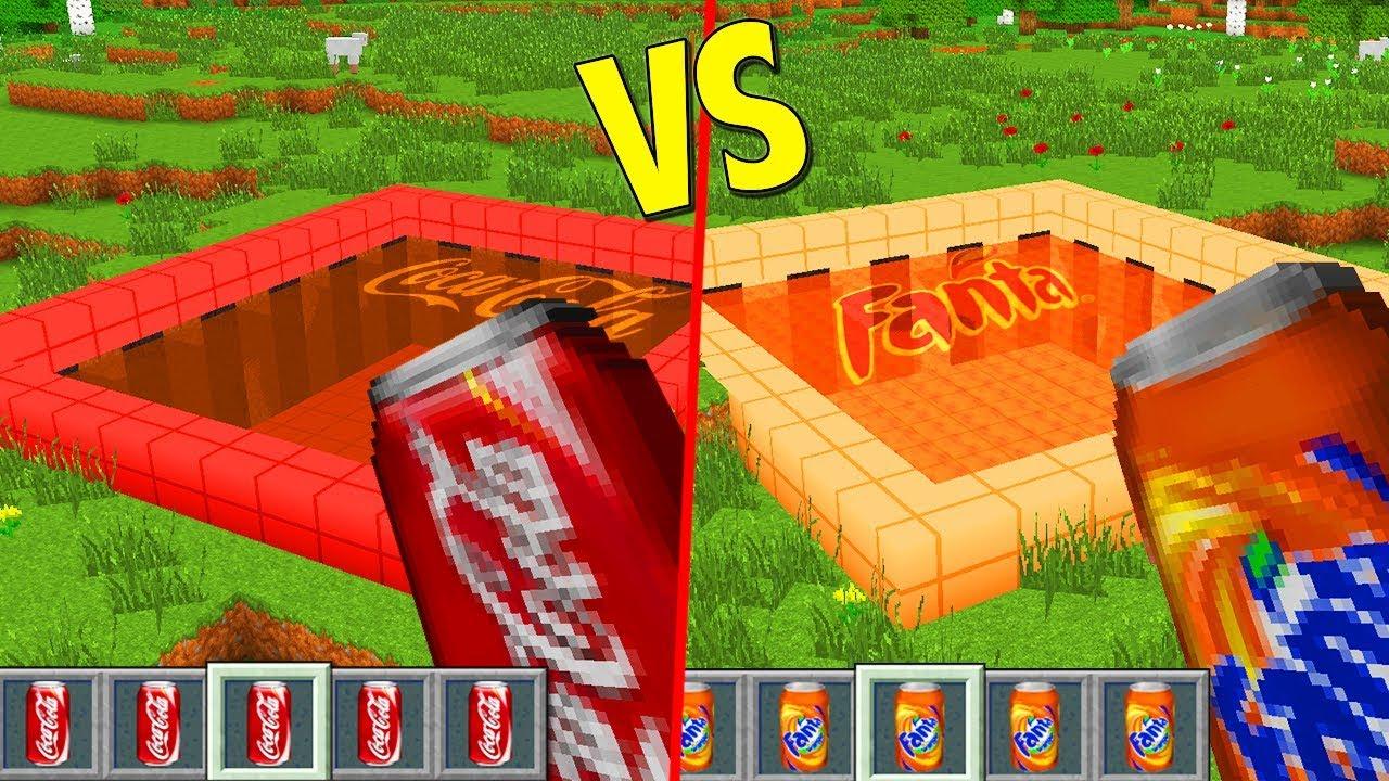 Piscina de coca cola vs piscina de fanta minecraft for Piscina de coca