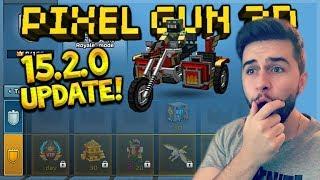 NEW PIXEL GUN 15.2.0 UPDATE! BATTLE PASS, VEHICLES, NEW WEAPONS, LUCKY CHEST CHANGES | Pixel Gun 3D