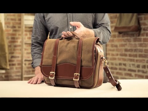 a5fb24b7562 The Messenger Bag   Waxed Canvas   Leather Messenger Bag - YouTube