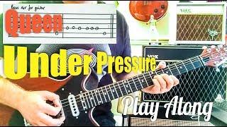 Queen + Bowie - Under Pressure - Guitar Play Along (Guitar Tab)