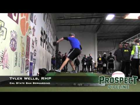 Tyler Wells Prospect Video, RHP, Cal State San Bernardino (front)