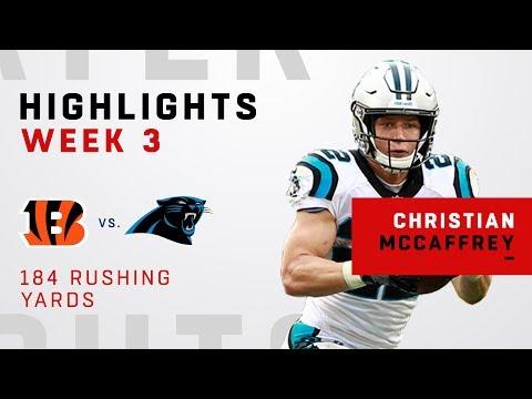 Christian McCaffrey's 184 Rushing Yards vs. Cincinnati!
