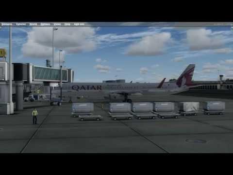 Prepar3D V3.1 Aerosoft Airbus 321 Qatar Double Full Flight Dubai - Doha - Dubai