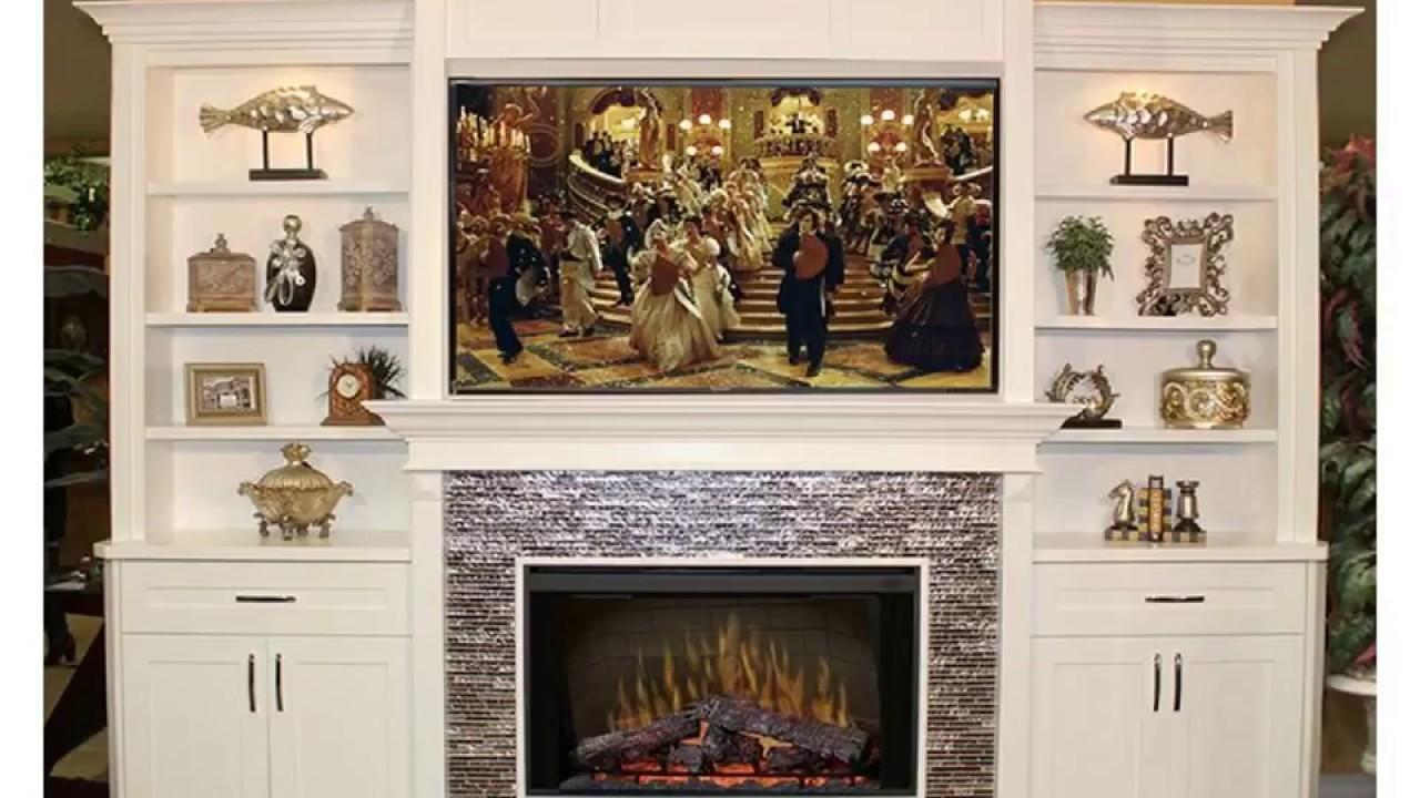 Fireplace Mantel Entertainment Center Youtube