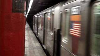 R62 3 train and R142 4 train at Hoyt Street