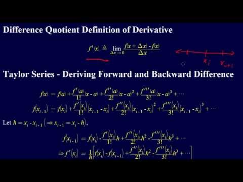6.3.2-Numerical Differentiation: Derivation of Forward and Backward Difference