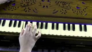 How to play - Vakra Tunda Mahakaya on Harmonium (with notes)
