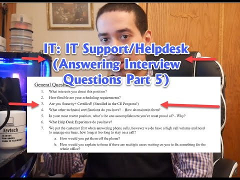 IT: IT Support/Helpdesk Interview Questions