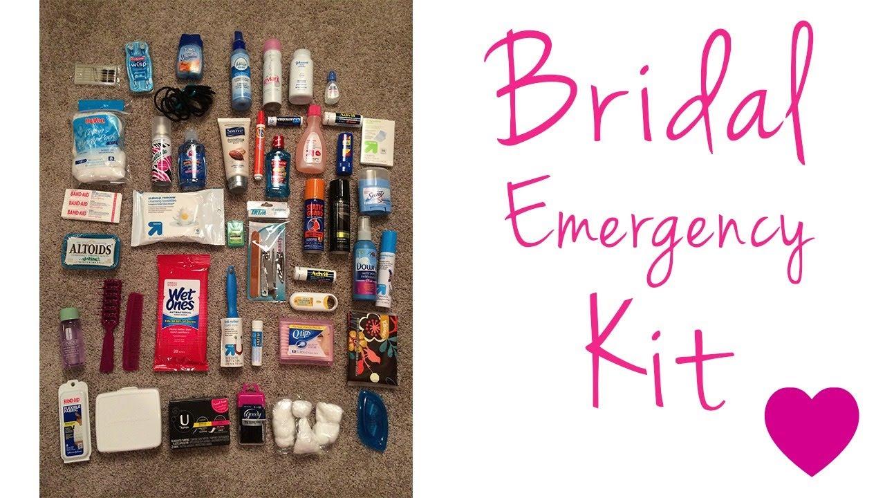 Bridal Emergency Kit Travel Toiletry Kit Diy Kit