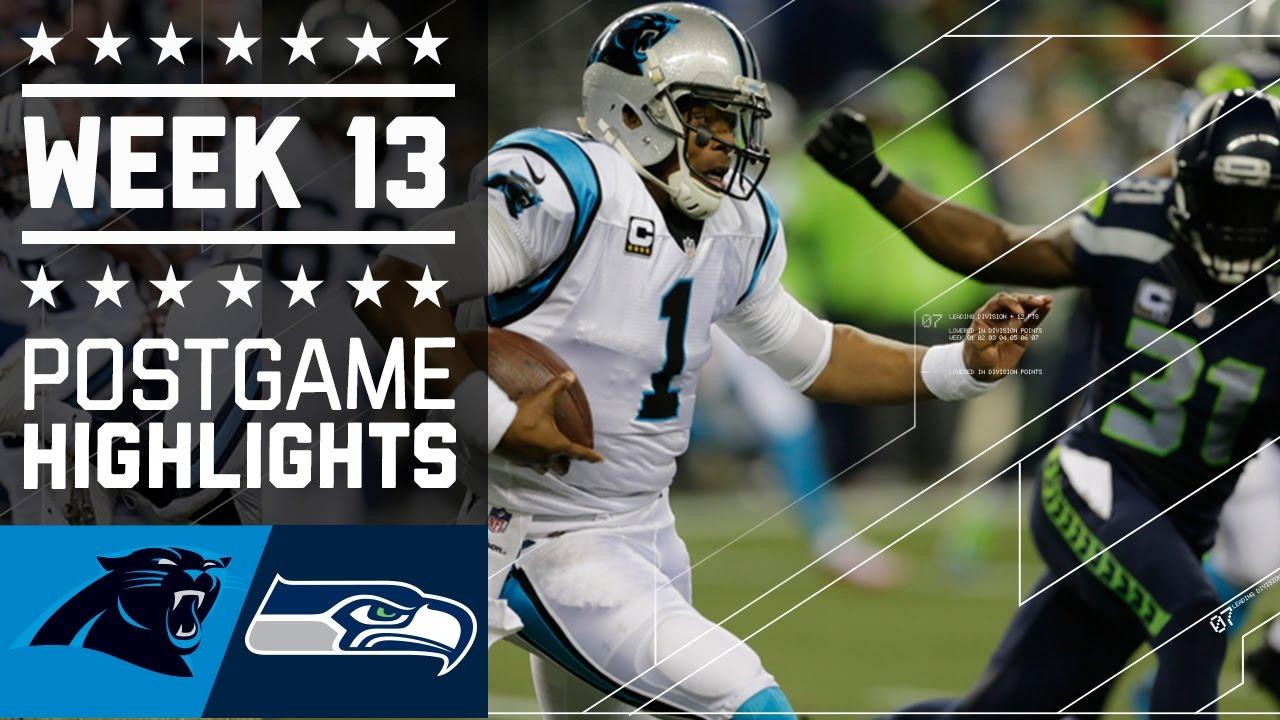 Panthers vs seahawks nfl week 13 game highlights youtube seahawks nfl week 13 game highlights youtube voltagebd Images