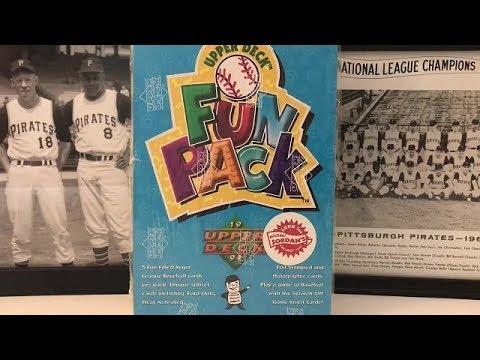 1994 Upper Deck Baseball Fun Pack Box Break! Michael Jordan RC Hunt!