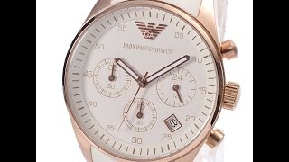 emporio armani ar5920 ladies watch sportivo white rose gold review アルマーニ ホワイト レビュー レディース 腕時計