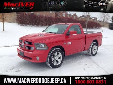 2015 red ram 1500 reg cab sport newmarket ontario maciver dodge jeep - 2015 Dodge Ram 2500 Red