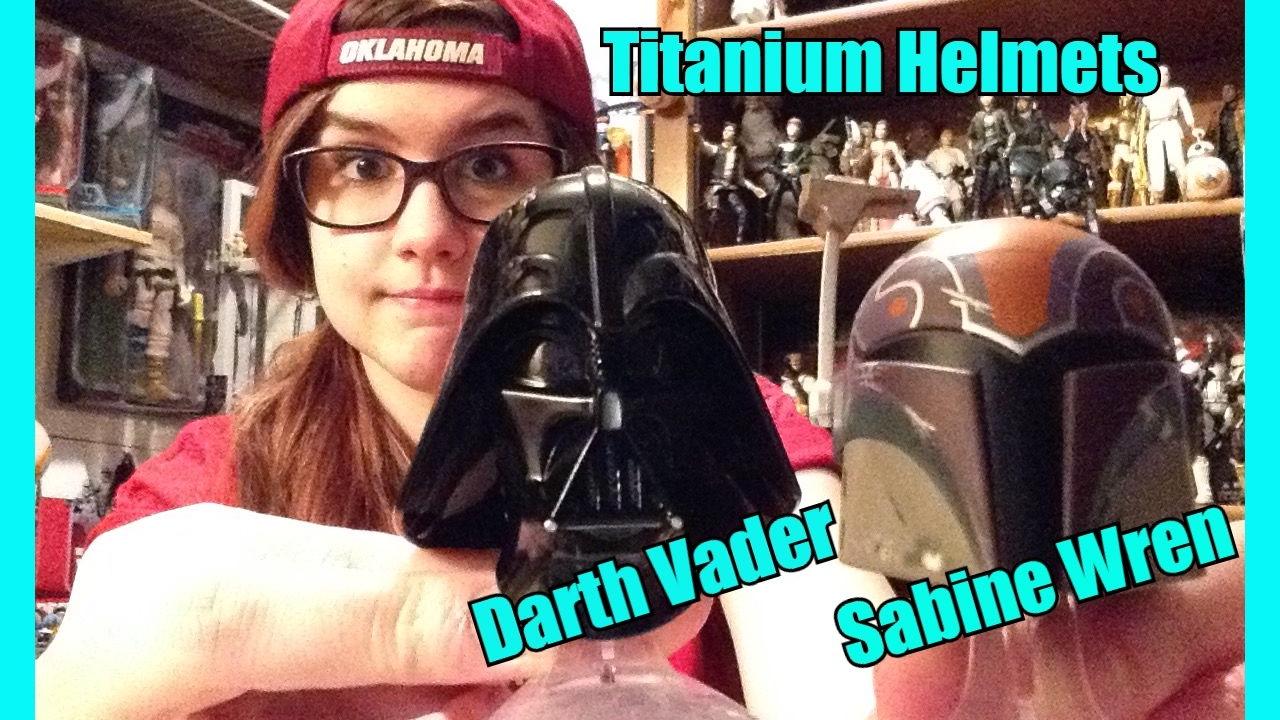 Hasbro Star Wars The Black Series Titanium DARTH VADER /& SABINE WREN Helmets 08