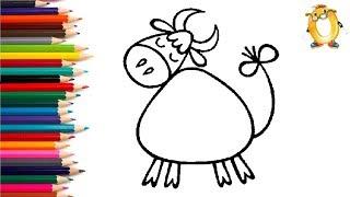Раскраска для детей МЕЧТАЮЩАЯ БУРЁНКА. Мультик - Раскраска. Учим цвета II ОБУЧАШКА ТВ