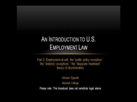 An Introduction to US Employment Law (part 2)
