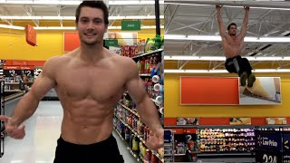 Connor Murphy Hanging from the Walmart Ceiling
