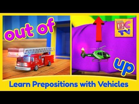 Tìm hiểu giới từ tiếng Anh với phương tiện giao thông  Video giáo dục cho trẻ em bởi Brain Candy TV