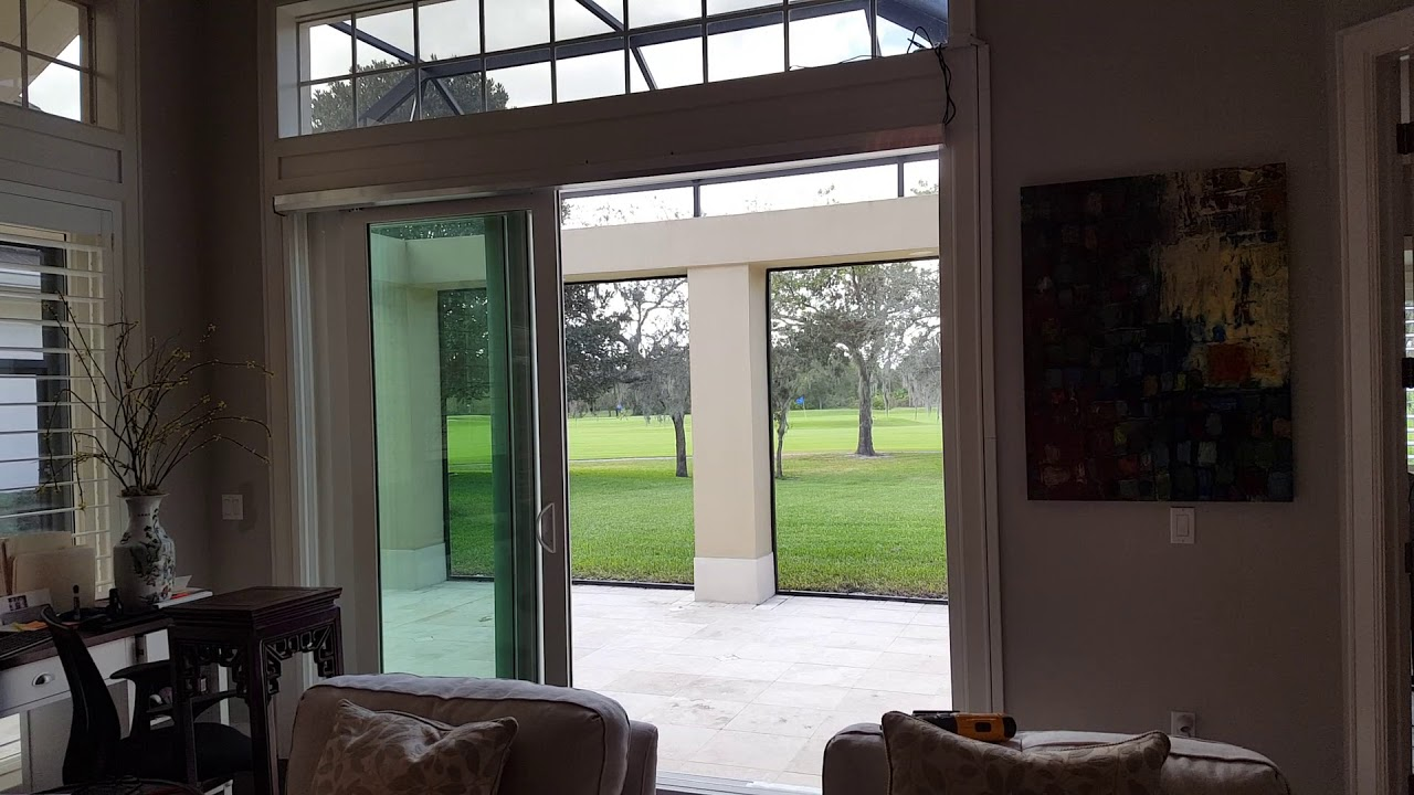 Three Panel Sliding Patio Door With Multidrive By Autoslide Youtube