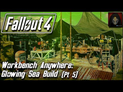 Fallout 4 | GLOWING SEA SETTLEMENT BUILD [Workbench Anywhere] #5 - War Rig Garage