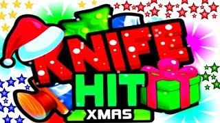 KNIFE HIT XMAS - EPIC GAMEPLAY (BOSS SANTA CLAUS) - KNIFE HIT CHRISTMAS (HD)