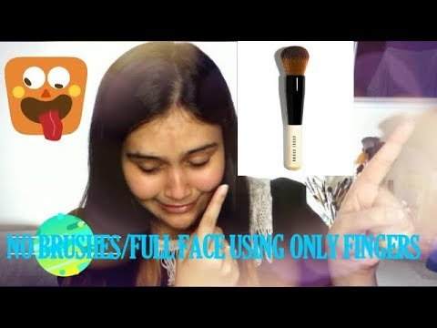 FULL FACE USING ONLY FINGERS NO BRUSHES CHALLENGE - FMA Makeup Tutorials