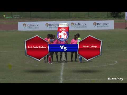 RFYS: Mumbai College Boys - R. A. Podar College vs Wilson College Highlights