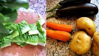 Баклажаны с картошкой - вкуснейшее сочетание. Салат по-турецки.