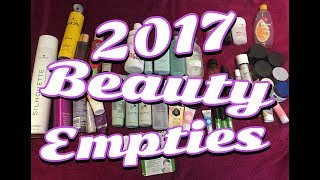 My 2017 Beauty Empties ** B Beautiful by Binita **