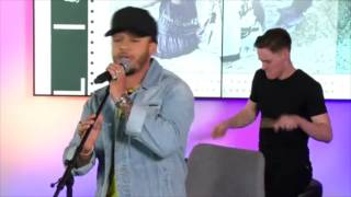 Aston Merrygold performing new track at Facebook HQ for #powertoshine finale
