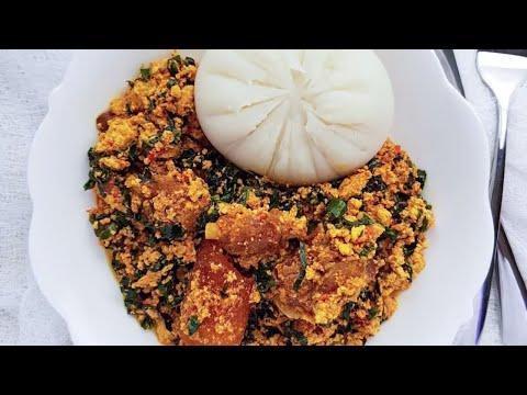 Lumpy Egusi with Ugwu Leaves | The Kitchen Muse
