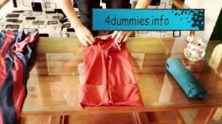 Hướng dẫn gấp áo quần tiết kiệm diện tích balo - Maestro Cafe - 4dummies.info